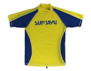 Surf Style Women's/Juniors Yellow Surfing Shirt Size XL  Nylon/Spandex