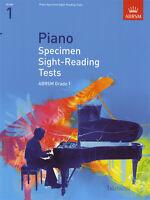 Piano Specimen Sight-Reading Tests for Piano ABRSM Grade 1 Exam Music Book