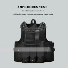 Outdoor Tactical CS Vest Casual Mens Field Army Play Game Camouflage Tanks Black