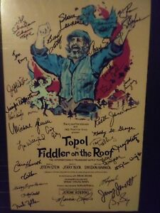 Topol in Fiddler On The Roof Intern. World Tour Full Cast Autogragh
