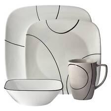 Corelle® Square™ 16pc Dinnerware Set Simple Lines