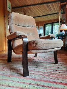 Armchair Club Chair Vintage 60er Easy Lounge Chair Danish 60s Westnofa Rykken