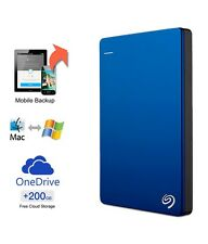 "2tb Seagate Backup Plus Slim 2.5"" usb3.0 Esterno Disco Rigido Portatile Blu"