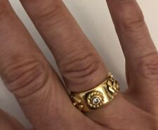 AUTHENTIC CHANEL 18k Yellow gold Ring from Camelia Collection  sz 5!!!