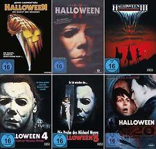 HALLOWEEN Komplett: 1 2 3 4 5 H20 COLLECTION Michael Myers DVD Sammlung NEU