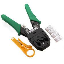 RJ45 RJ11 RJ12 Network LAN Phone Cable Crimping Tool Modular Crimper + 100 RJ45