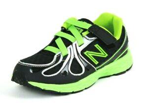 New Balance KV890BGI Toddler Shoes Boys Mesh Adjustable Athletic Black Green DS