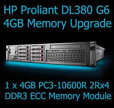 HP Proliant dl380 g6 4gb kit di aggiornamento della memoria pc3-10600r server di memoria ddr3 ecc