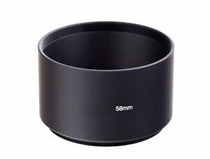 58mm Black Metal Telephoto Screw in Lens Hood 58mm Thread - UK SELLER