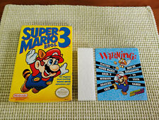 Super Marios Bros 3 - Nintendo - NES - Authentic - Box Only - Oval Seal!