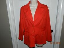 Vintage 1970's JC Penny Women's Blazer Jacket RED  Size 12