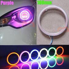 2pcs 100mm Purple Car Motorcycle Headlight Angel Eye Cob Halo Ring LED Light DRL