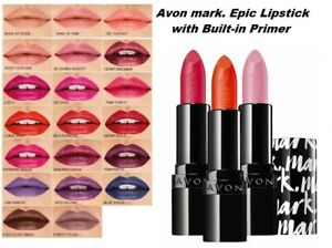 Avon mark. Epic Lipstick FULL SIZE with built-in primer -  choice of 27 shades