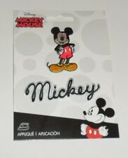 Disney MICKEY MOUSE Standing & MICKEY Name Embroidered iron on Patch 2 pc