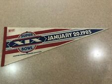 NFL FOOTBALL SUPER BOWL XIX MIAMI DOLPHINS vs SAN FRANCISCO 49ers  PENNANT