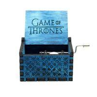 🎵Game of Thrones Music Box Wooden Engraved Harry Potter Star Wars Zelda🎵