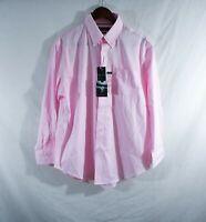 Ralph Lauren non iron ultraflex dress shirt mens L 16.5 x 32/33 nwt pink