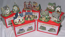 10 Liberty Falls Village Mini Porcelain Houses Hotel Mill Farm Church 1999 Mint