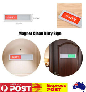 Magnetic Clean Dirty Dishwasher Indicator Sign Non Scratch Magnetic Backing AU
