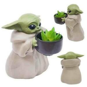 Baby Yoda Planter Pot Creative Flower Pot & Hole Xmas Ornament Birthday Gift