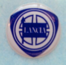 Lancia Sticker Badge Decal 20mm -  Blue on white background Self Adhesive