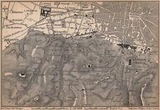 Bolonia alrededores. Certosa. Madonna di San Luca. Santo Michele en Bosco 1895 Mapa
