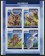 TOGO 2017  OWLS  SHEET MINT NEVER HINGED