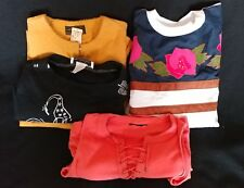 Ladies Group lot of 4 gently used sleeveless short long Summer Fall tops Size S