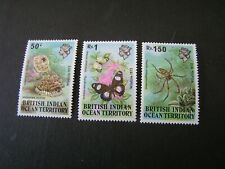 BRITISH INDIAN OCEAN TERRITORY, SCOTT # 54-56(3),1973 JELLYFISH ISSUE MVLH