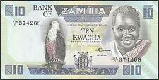 TWN - ZAMBIA 26e - 10 Kwacha 1980-88 UNC Prefix 118/D