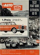 Auto Motor Sport 13 60 1960 Citroën ID 19 Fiat 600 NSU Jagst Hans Stuck Casner