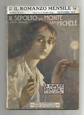 Il Romanzo Mensile Anno XVII Settembre 1919 - Il Sepolto Del Monte San Michele