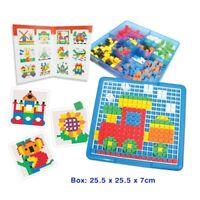 MOSAIC Tiles Pattern Creative Play KIDS Educational Children's TOY Set 490 pcs