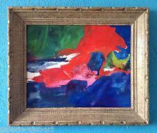1€ Christa PYROTH Tableau Gouache 1964 Signée Abstrait 32x38 Abstract Lindstrom