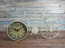 Cream metal bike clock