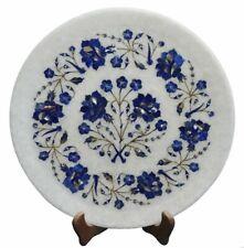 "12"" round Marble Plate marquetry lapis pietradura Inlay handmade art work"