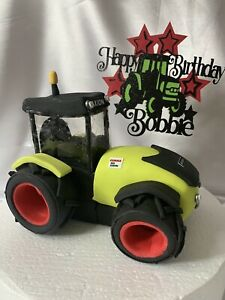 Edible Very Large TRACTOR Digger farm Cake Decoration Cake Topper