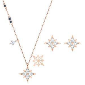 Swarovski Symbolic Star Cubic Zirconia Swarovski Crystal Necklace & Earrings Set