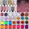 BORN PRETTY Nail Glitter Powder Holographic Mirror Neon Nail Art Pigment Dust