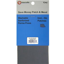Iron-On Mending Fabric Repair Patch 6.5 x 14 Inch Compare to Bondex - Grey