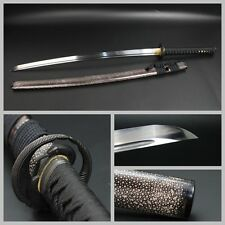 Unique Japan Samurai Sword Katana Clay Tempered T10 Steel Genuine Ray Skin Sharp