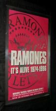 Original Ramones It'S Alive 1974-1976 Theatre & Dvd release Foil Poster