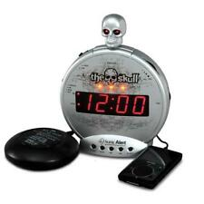 "Sonic Boom ""Skull"" Alarm Clock w/ Bed Shaker for Deaf"