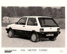 MG Metro Turbo 1982-83 Rear 3/4 View Original UK Market Press Photograph