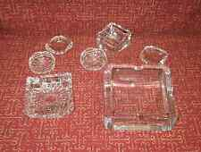 Vintage LEADED CRYSTAL HAND CUT AND POLISHED ASHTRAYS LARGE CIGAR TO INDIVIDUAL