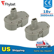 Replace for Dewalt 18v XRP Battery 3.6Ah Ni-MH DC9096 DC9098 New Upgrade(2 Pack)