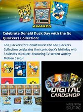 Topps Disney Collect GO QUACKERS COLLECTION Full Set of 20 Cards Motion Die-cut+
