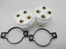 2pc UV4 4pin Gold plated tube socket for Western Electric 101D/F 205D/E 216 Tube
