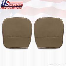 2009 Ford F250 F350 F450 F550 XL Driver & Passenger Bottom Vinyl Seat Cover Tan