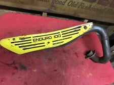 1977 Yamaha DT100 Exhaust Pipe   DT 100  Enduro   Heat Shield